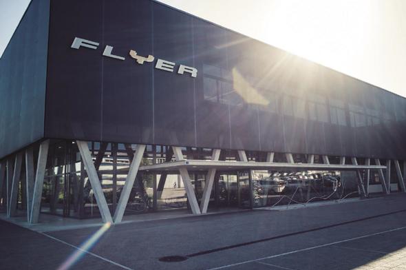Das Flyer-Hauptquartier in Huttwill/Schweiz