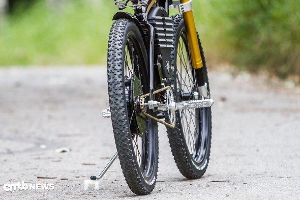Die Schwalbe Black Jack-Reifen sind genau richtig für den gedachten Einsatzzweck.