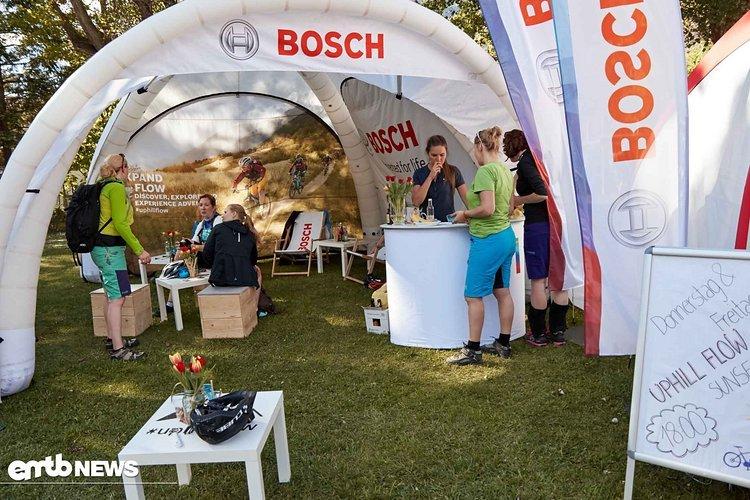 Am Bosch Stand konnte man sich für die E-Bike Touren anmelden