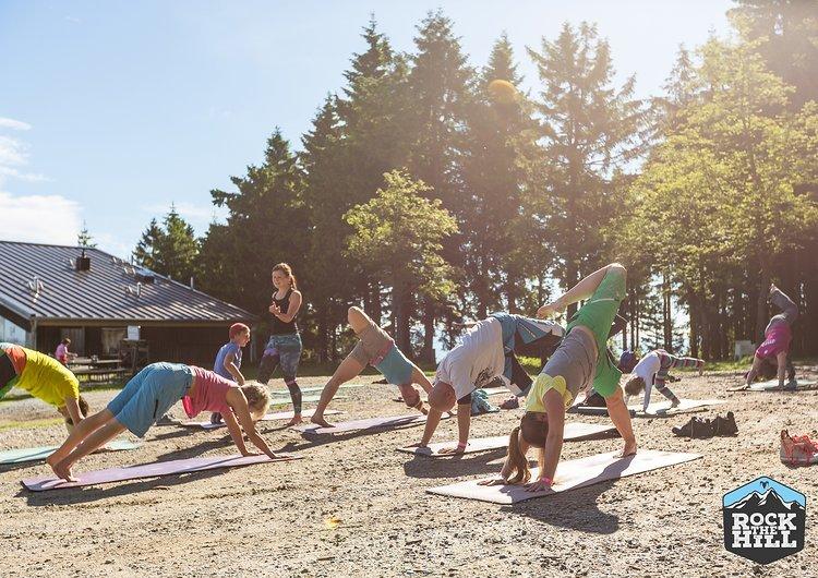 Yoga am Morgen