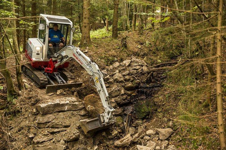 Insgesamt 75 Maschinentage hat der Bau des Uphill Flow Trails gebraucht